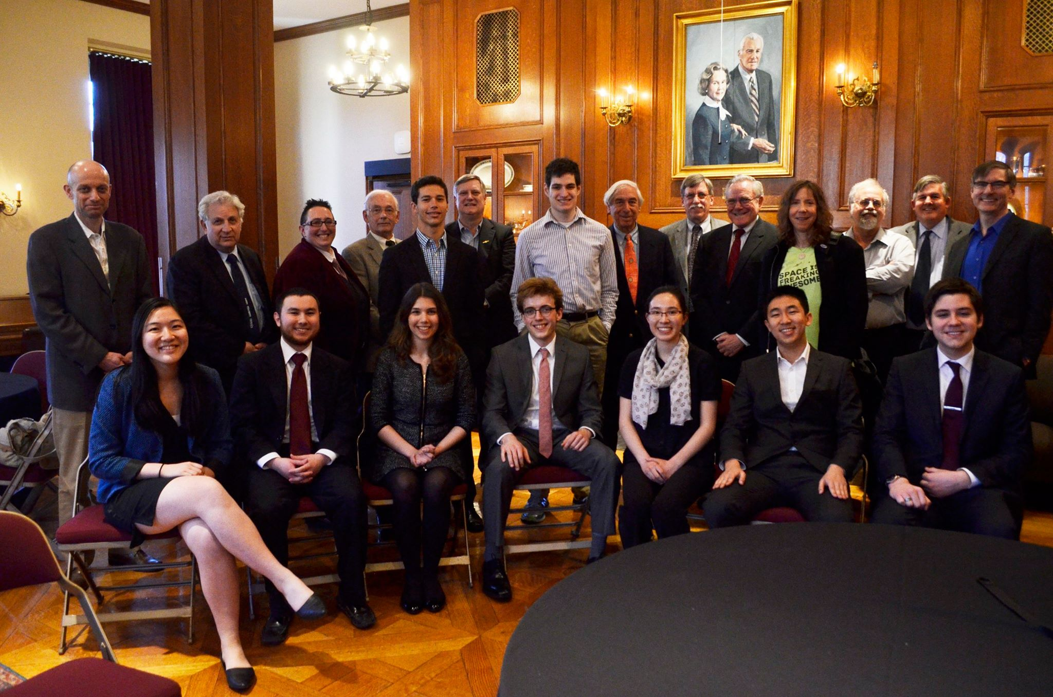 Group photo of Chicago Society members and speakers from last year's Spring Conference